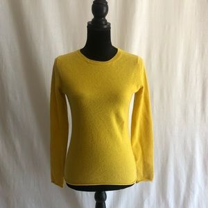 Ply Cashmere Women's Yellow Crewneck Sweater